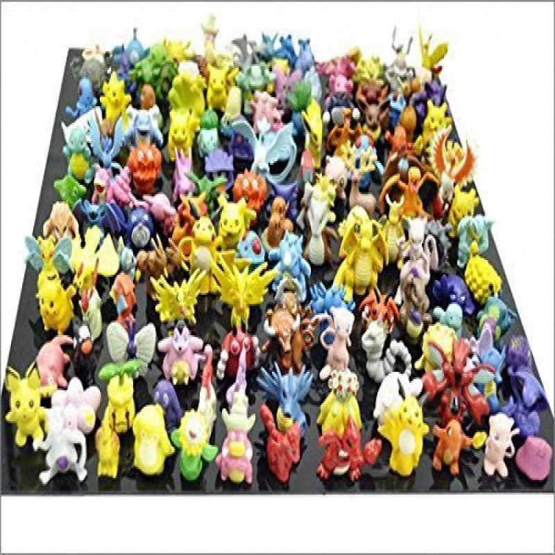 Jack's 1 SET PER Lots 144pcs Pokemon Action Figures 2-3cm Pokemon Pikachu Monster Mini Plastic Figures Small Size Gift Multicolor, 144pcs