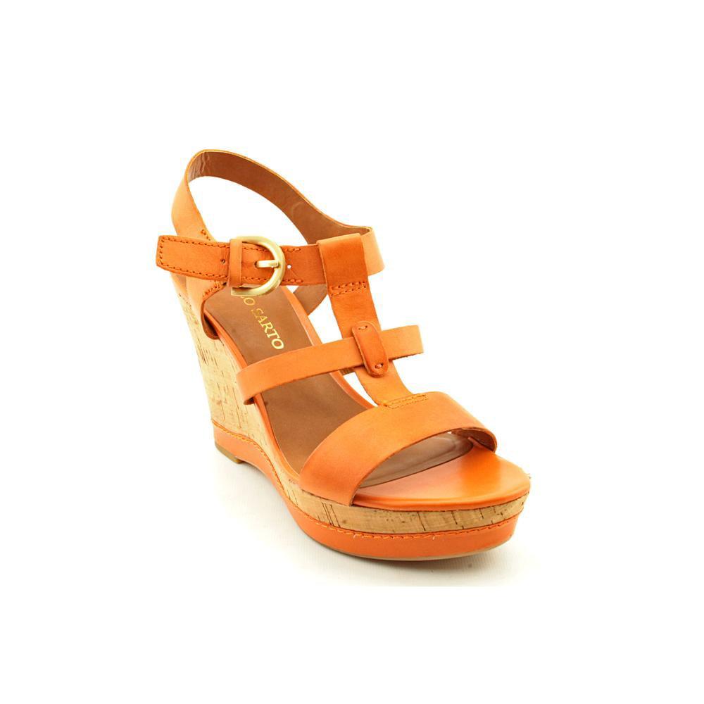 Franco Sarto Sonoma   Open Toe Leather  Wedge Sandal