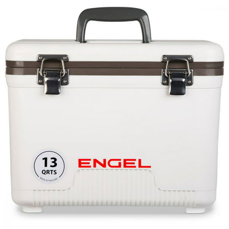 Engel 13 Quart Compact Durable Ultimate Leak Proof Outdoor Dry Box Cooler, White (Dry Ice For Halloween Fog)