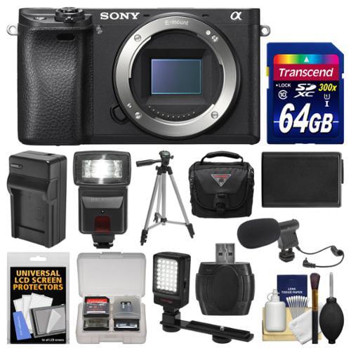 Sony Alpha A6300 4k Wi Fi Digital Camera Body Black With
