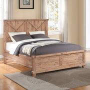 Yosemite Solid Wood Panel Bed
