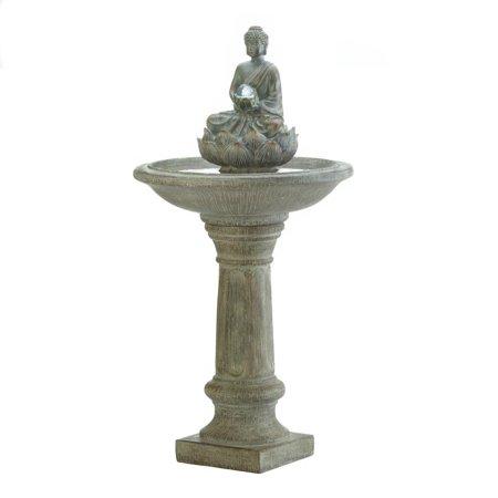 Buddha Fountain, Stone Outdoor Fountain, Courtyard Fountain With Led Lights ()