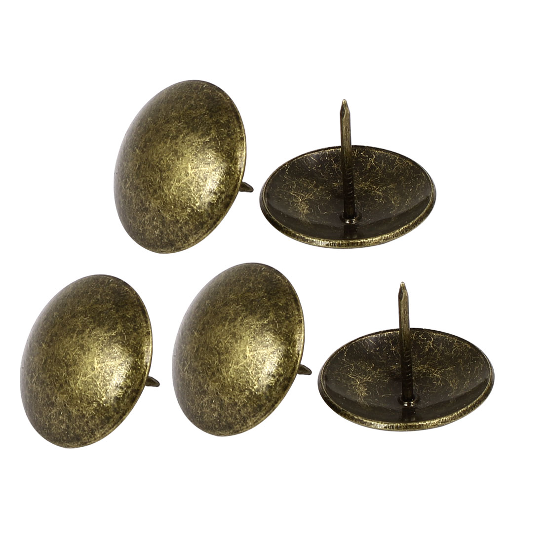 Home Furniture Round Head Iron Upholstery Tack Nails Bronze Tone 30mmx25mm 5 Pcs