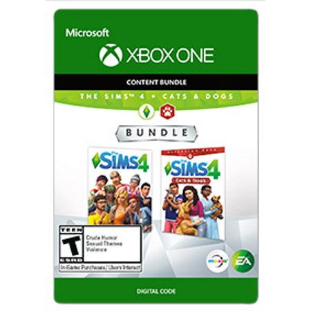 The SIMS 4 + Cats & Dogs Bundle, EA, Xbox, [Digital