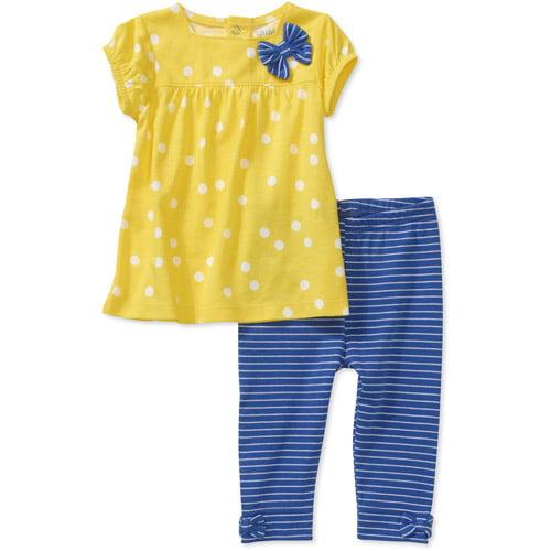 Child of Mine by Carters Newborn Girls' 2-Piece Dot Stripe Tunic and Legging Set