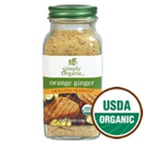 Simply Organic Orange Ginger Seasoning 4.24 Oz (Pack of 6)