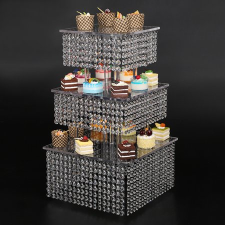 Frozen Theme Cupcake Stand, 3 Tier Cake Stand Cupcake Tower Reusable And Adjustable - Holds 70-90 Cupcakes - perfect For Weddings, Birthdays, Holidays Or Any Event