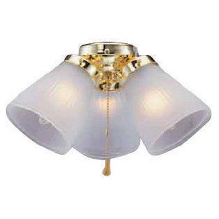 Boston Harbor CF-3FLK-PB Ceiling Fan Light Kit, 3 Light Light Gold Hardware