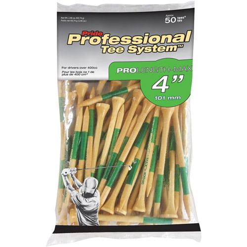 """Pride Professional 4"""" 50ct Natural Tees"""