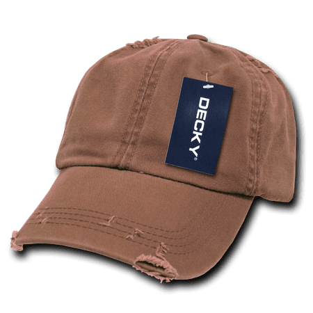 DECKY Vintage Frayed Washed Polo Hats Hat Caps Cap For Men Women Brown -  Walmart.com 904463d3865