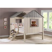 Donco Kids PD-2188FLRSRG Full House Low Loft, Rustic Sand & Grey