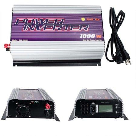 iMeshbean LCD Display 1000W DC 22V-60V TO AC 110V MPPT Grid Tie Inverter Pure Sine Wave for Solar Panel System Stackable USA ()