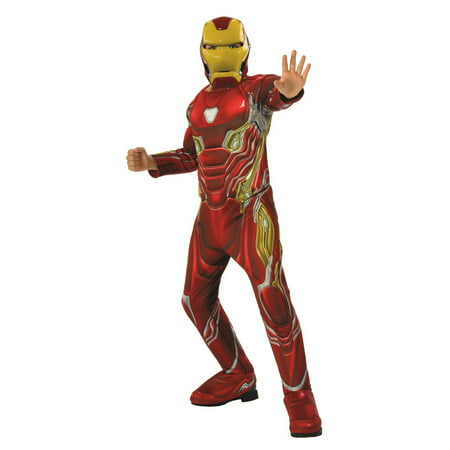 Iorn Man Costume (Marvel Avengers Infinity War Iron Man Deluxe Boys Halloween)