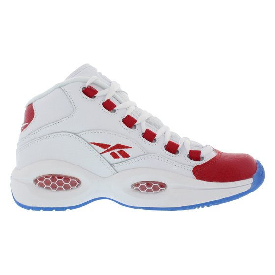 6615b8ab231 Reebok - Reebok Boy s Question Mid White   Pearlized Red High-Top ...