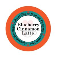 Smart Sips Coffee Blueberry Cinnamon Latte Single Serve Cups, 24 Count, Compatible With All Keurig K-cup Machines