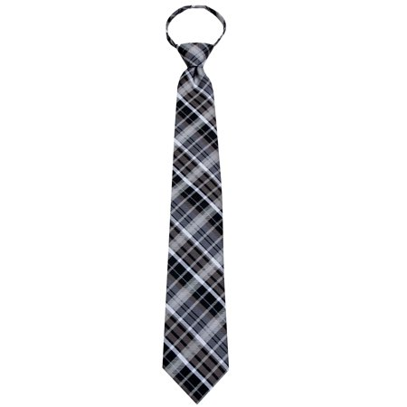 Mens Pre-Made Zipper Necktie Ties - Many Colors and Patterns Available