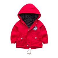 Boys Girls Cartoon Mickey Mouse Zipper Casual Hooded Jackets Coats