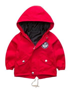 Boys Girls Cartoon Mickey Mouse Zipper Casual Hooded Jackets Coats