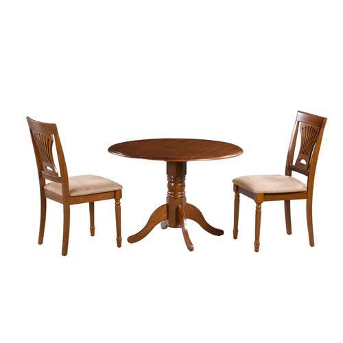 Alcott Hill Hillcrest 3 Piece Drop Leaf Solid Wood Dining Set