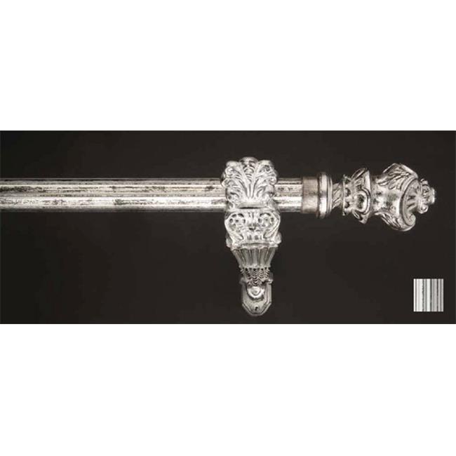 Winart USA 8.1184.30.32.160 Palas 1184 Curtain Rod Set - 1,25 po - Blanc et noir - 63 pouces - image 1 de 1