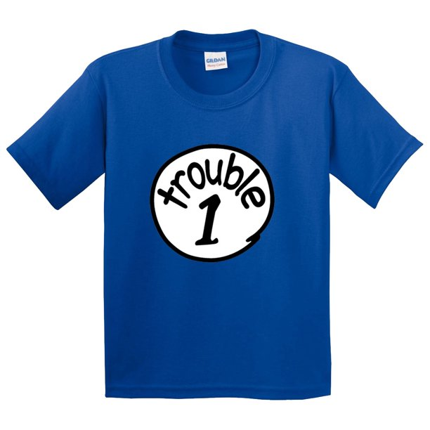 New Way 721 - Youth T-Shirt Trouble 1 One Dr Seuss Thing Parody