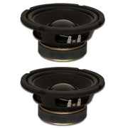 """2 Goldwood Sound GW-6024 Rubber Surround 6.5"""" Woofers 170 Watts each 4ohm Replacement Speakers"""