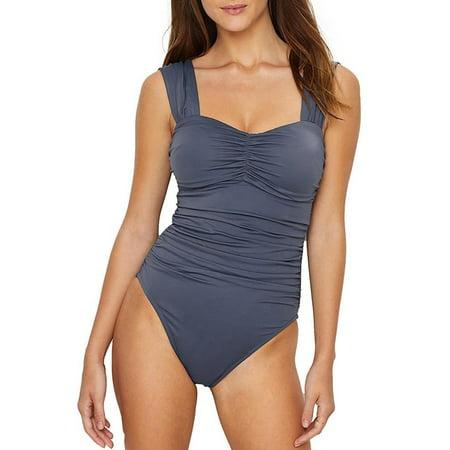 f74a3aa268 Magic Suit - Magic Suit Magicsuit Solid Natalie Off-The-Shoulder One-Piece  - Walmart.com