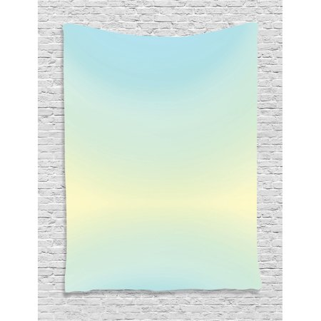 Bedroom Decorating Ideas - Teal Decor Wall Hanging Tapestry, Defocused Abstract Design Bright Center Blurred Light Color Decorating Artwork, Bedroom Living Room Dorm Accessories, Gift Ideas, By Ambesonne