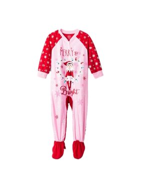 Toddler Girls Elf on The Shelf Merry & Bright Footed Pajamas (4t) Red