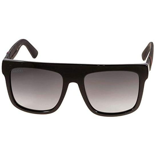 9a1238fa06b Gucci - Gucci GG 1116 Sunglasses 0M1V Shiny Black - Walmart.com