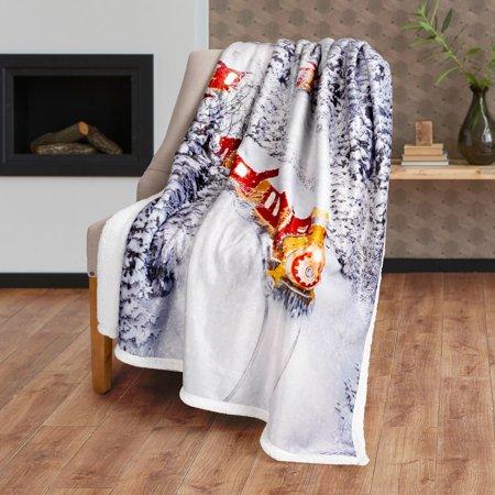Safdie & Co. Christmas Throw Blanket Photoreal 50