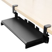 "VIVO Small Clamp-on Computer Keyboard and Mouse Under Desk Slider Tray | 20"" x 11"" Platform Drawer (MOUNT-KB05ES)"