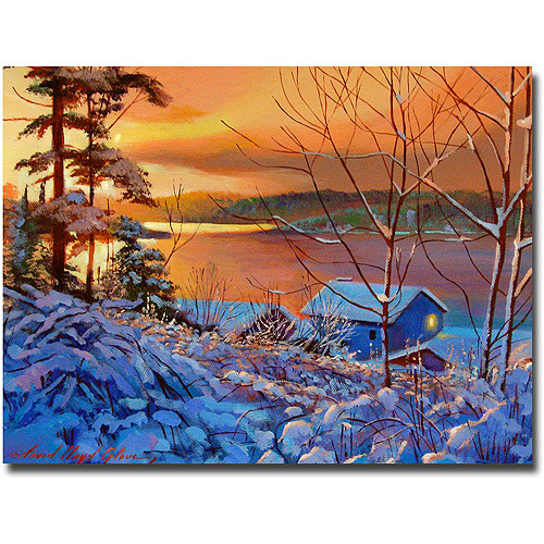 "Trademark Art ""Winter Day Begins"" Canvas Wall Art by David Lloyd Glover"