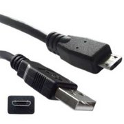 Offex OF-10U2-03101BK Micro USB 2.0 Cable, Type A Male/Micro-B Male, 1-Foot, Black