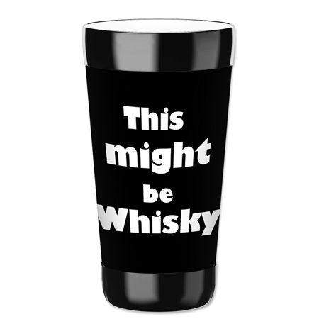 Mugzie 16-Ounce Tumbler Drink Cup with Removable Insulated Wetsuit Cover - Might be Whiskey ()