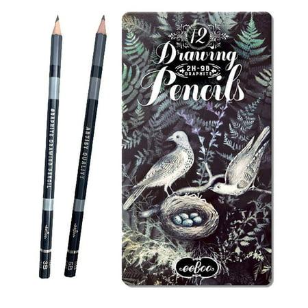Graphite Drawing Pencils, Set of 12 Pencils - Drawing Pencils