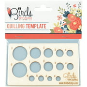 """Quilling Template, 4.75"""" x 2.75"""""""