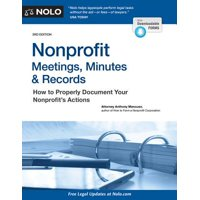 Nonprofit Meetings, Minutes & Records : How to Properly Document Your Nonprofit's Actions