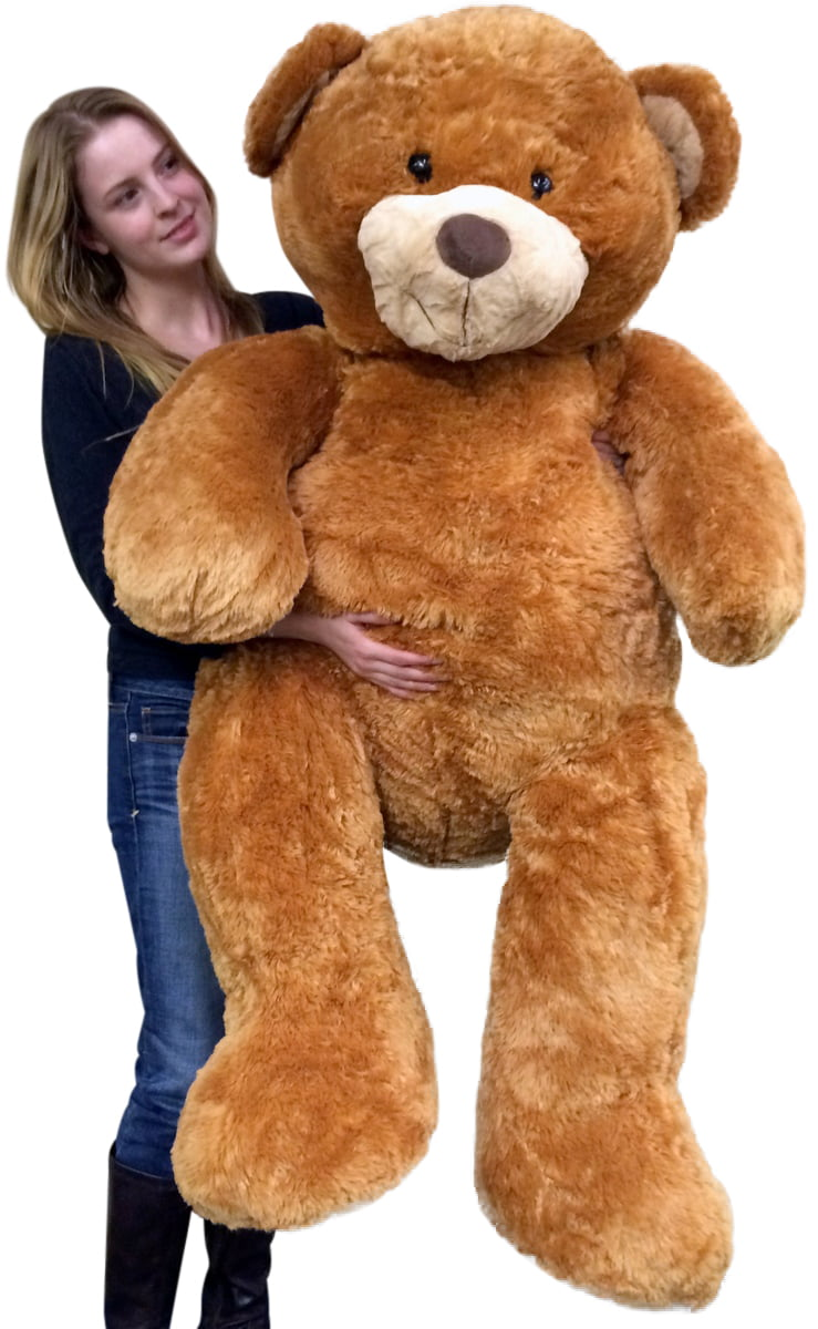 Giant 5 Foot Teddy Bear Big Soft 60 Inch Plush Animal Honey Brown Color by Big Plush