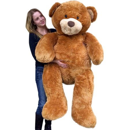 Giant  5 Foot Teddy Bear Big Soft 60 Inch Plush Animal Honey Brown Color](Cheap Teddy Bears)