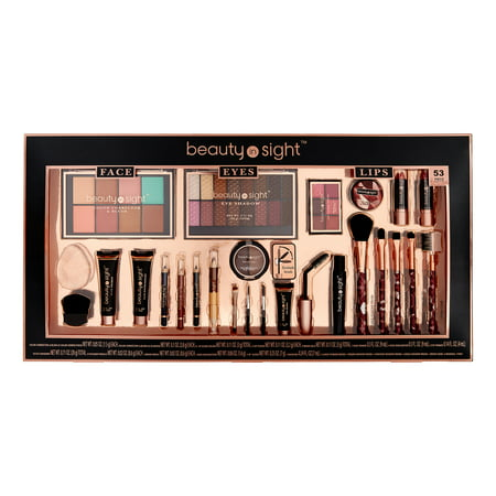 Beauty In Sight Face, Eyes & Lip Makeup Set, 53 Pieces ($25 Value)