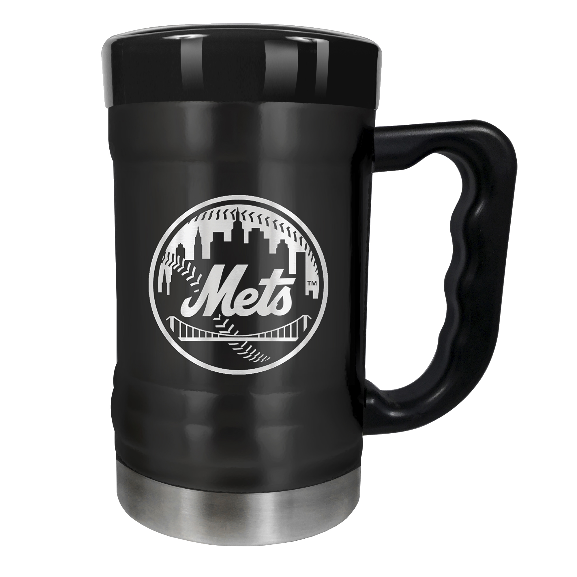 New York Mets 15oz. Stealth Coach Coffee Mug - Black - No Size