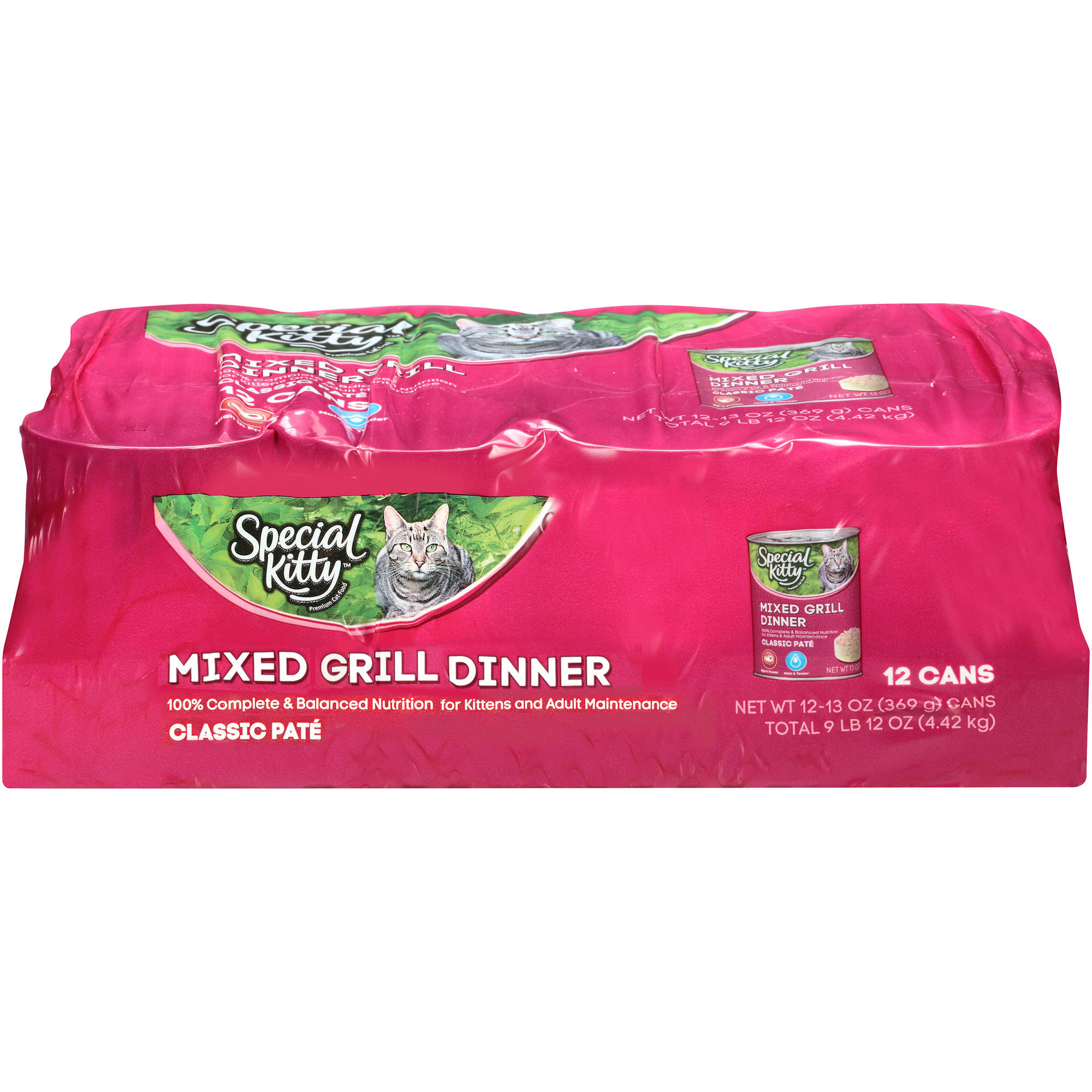 Special Kitty Mixed Grill Dinner Wet Cat Food 12-13 oz. Cans