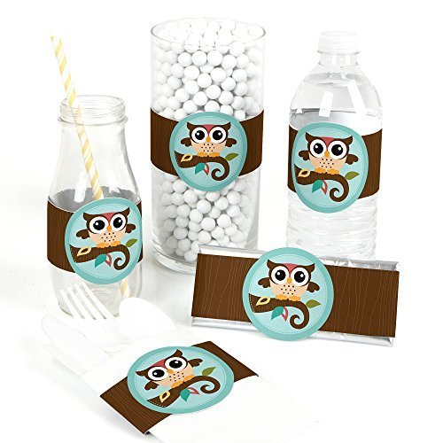Owl - DIY Party Wrapper Favors - Set of 15
