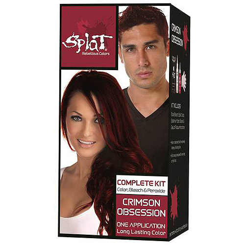 Splat 30 Wash Hair Dye Kit, Semi-Permanent, Crimson Obsession