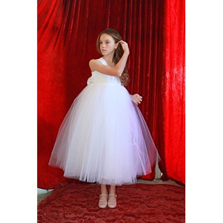 Ekidsbridal white sweetheart neck cotton tutu flower girl dresses this button opens a dialog that displays additional images for this product with the option to zoom in or out mightylinksfo