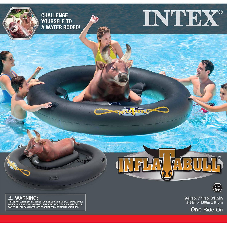 Intex INFLATABULL Rodeo Bull Ride Float Walmart