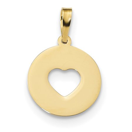 14K Yellow Gold Gold Polished Cut-out Heart Pendant / Charm