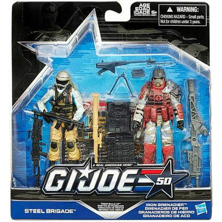 Gi Joe Iron (GI Joe Steel Brigade vs. Iron Grenadier Troop Build Up Action Figures )