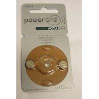 Power One ACCU plus p312 rechargable batteries, , 1 Pack (2 Batteries)
